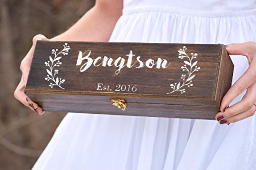 Personalized Wine Box - Wine Ceremony - Keepsake Time Capsule - Wedding Gift - Housewarming Gift - Wood Wine Box - Wedding Shower Gift