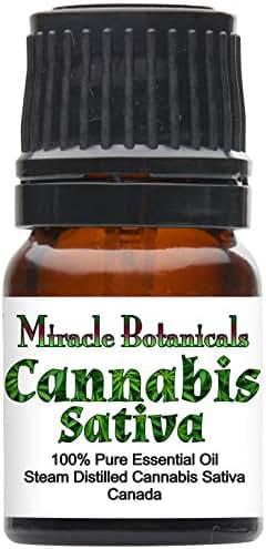 Miracle Botanicals Cannabis Sativa Essential Oil - 100% Pure Cannabis Sativa - Therapeutic Grade - 2.5ml