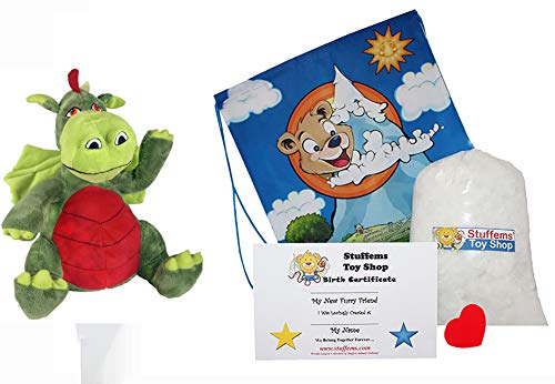 Make Your Own Stuffed Animal Mini 8 Inch Very Soft Friendly Dragon Kit - No Sewing Required!]()