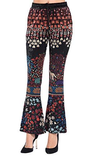 Velours Idees En Noir Femme Imprimée Pantalon 101 v8wqCx