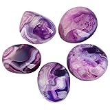 rockcloud Irregular Polished Purple Agate Palm