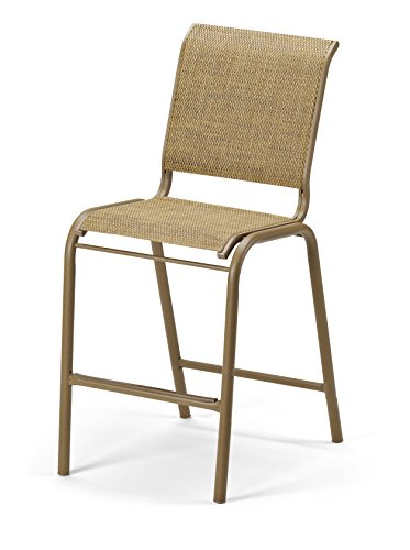Telescope Casual Furniture Reliance Contract Sling Collection Balcony Height Stacking Aluminum Armless Chair, Lime, Textured Graphite Finish