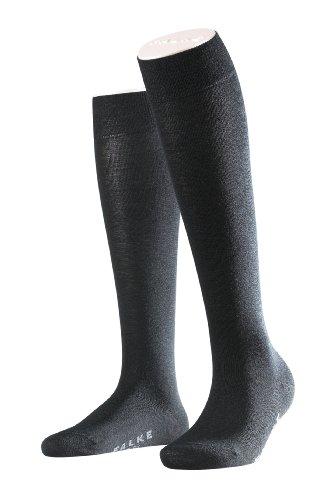Falke Women's Soft Merino Wool-Cotton Knee High Socks, Black, 39-40 -