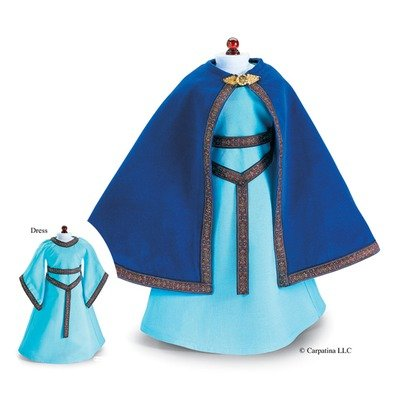 French Princess Medieval Dress and Cloak fits 18 Inch American Girl (Medieval Clothing For Girls)