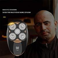Maquinilla de Afeitar Eléctrica, 5 en 1 Bald Men Shaver Beard Trimmer Grooming Kit 5d Afeitadora Rotativa ...
