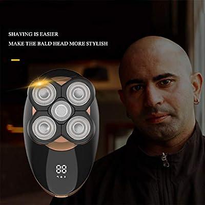 Maquinilla de Afeitar Eléctrica, 5 en 1 Bald Men Shaver Beard Trimmer Grooming Kit 5d Afeitadora Rotativa, Afeitadoras Rotativas Secas y Húmedas Nariz Hair Beard ...