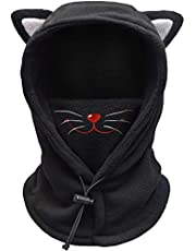 FCY Kids Balaclava Face Mask,Boys/Girls Reusable Washable Cloth Full Face Masks,Windproof Dust Mask Winter Hat
