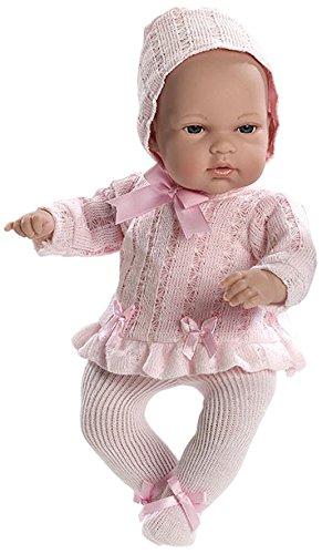 Elegance - Muñeca natal y bolsa, 33 cm, color rosa (Muñecas Arias 50089