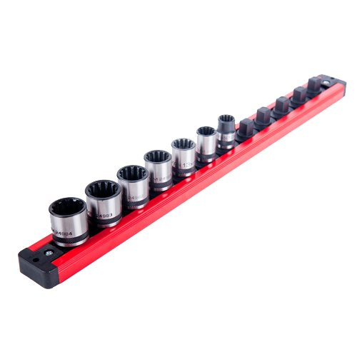 Torin Big Red Tool Organizer: Magnetic Locking Socket Rack, 3/8'' Drive Sockets