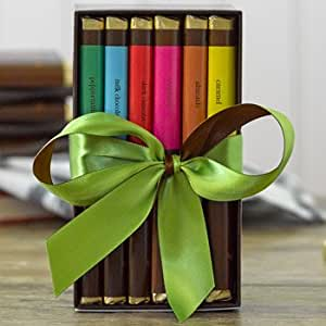 Lake Champlain Chocolate Bar Library Gift Set, 6 Count Variety Pack, 1.1 Pounds