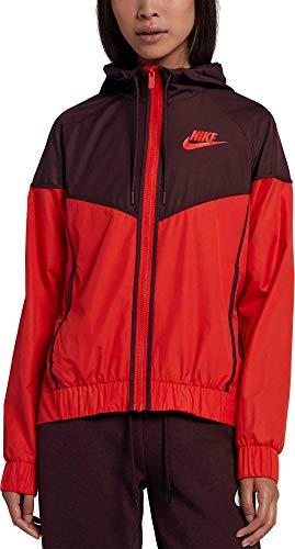 NIKE Women's Sportswear Windrunner Jacket (Habanero Red/Black, X-Small) by Nike (Image #2)