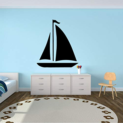 Sailboat Wall Decal - Personalized Sailboat Wall Decor - Wall Decals for kids - Bedroom, Play Room or Beach House.