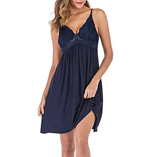 Slips for Women Dresses Blue Babydoll Dress Women Sleepwear for Women Spaghetti Strap Dress lace Dress Blue M