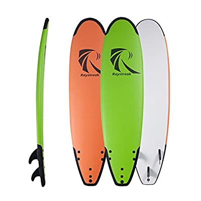 "Raystreak 7'2"" Crocodile Groove Soft Surfboard Beach Ocean Surfing Body Foamie Board"