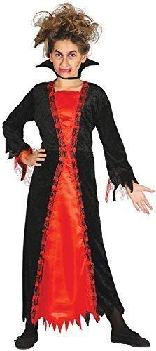 Girls Aged Old Vampire Fantasy Creepy Halloween Horror Fancy Dress Costume Outfit 5-12 Years (10-12 years) -