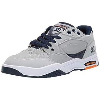 DC Men's MASWELL Skate Shoe, Grey/Dark Navy, 13 M US
