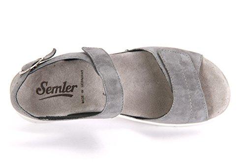 Semler D4045 042 071 Dunja - Sandalias de vestir de Piel para mujer Azul - azul