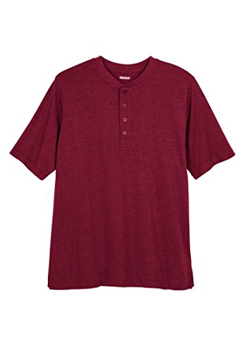 Kingsize Mens Henley Lightweight Solid