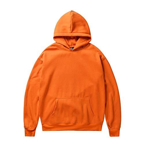 kaifongfu Woman Hooded Sweatshirt Tops Winter Long Sleeve with Santa Claus Print(Santa Orange,XXL)