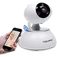 Toguard Wireless IP Camera WiFi Baby Monitor Home Security Surveillance Nanny Cam Video Recorder Night Vision Pan/Tilt PTZ Cam Two way Talk (Free APP,Support iphone ipad android)