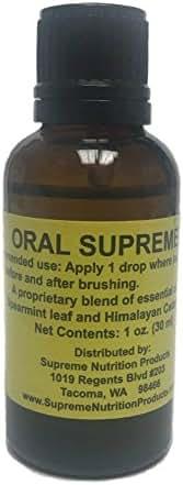 Supreme Nutrition - All-Natural Oral Hygiene Product for Healthy Gums -  Oral Supreme - 30 Milliliters