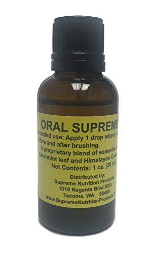 Oral Supreme by Supreme Nutrition, 30 Milliliters, All-Natural Oral Hygiene Product for Healthy Gums (Best Oral Hygiene Products)