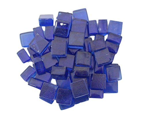 Exotic Fire Glass - Cobalt Blue Fire Glass Squares 1/2 Inch - 10lb. Bag