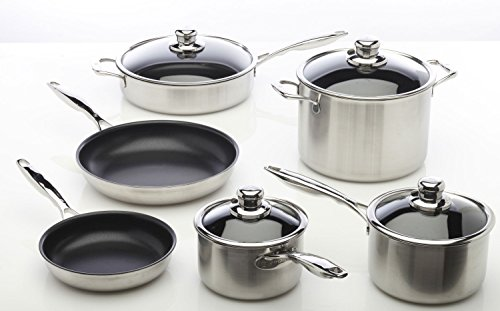 Swiss Diamond XD Clad Stainless Steel 10-piece Nonstick Cookware Set