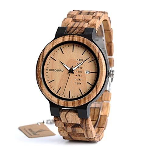 LiBetyd LO26-1-2 Men Wristwatches Quartz Movement Complete Calendar Watch Week Display Fashion Erkek KOL Saati (Color : LO26-1)