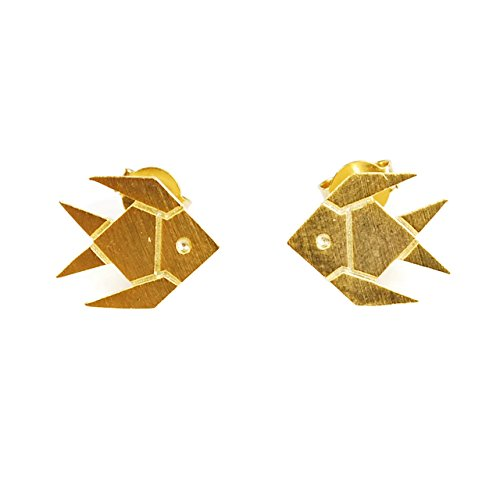 Cuple Gold Animal Stud Fish Earrings for Girls and (Cute Cuples)