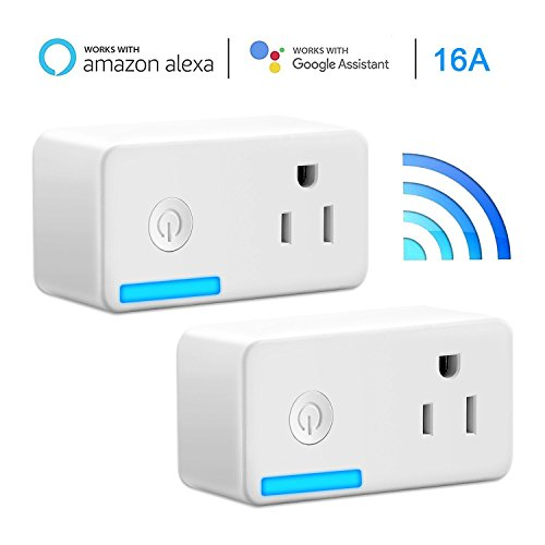 WiFi Mini Smart Plug Smarlance Wireless Smart Socket Outlet Works with Alexa, No Hub Required, with Timing Function,Control Your Devices from Anywhere (2 - Mo Outlet