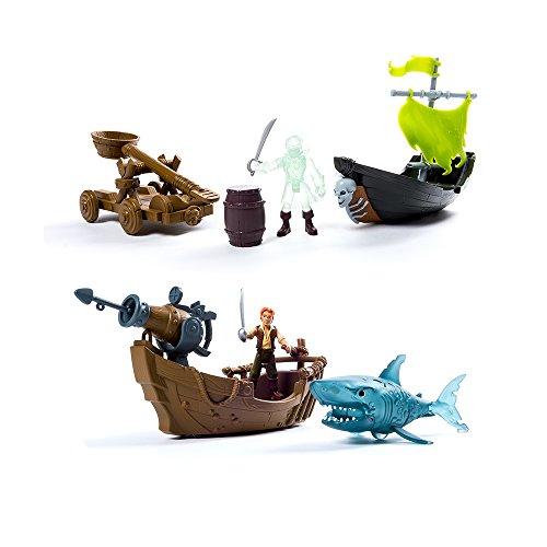 Piratas del Caribe Figura de Acción Barco y Accesorio de Lujo