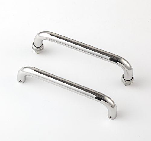 Rembrandt - Standard 6'' Modern & Contemporary Double Shower Pull w/ Washers Stainless Steel for Entrance/Entry/Shower/Glass/Shop/Store, Interior/Exterior Barn & Gates - Chrome Mirror Polished by Rembrandt (Image #2)