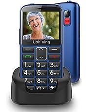"""Ukuu Senioren-Mobiele telefoon 1,8"""" GSM mobiele telefoon Dual SIM klaptelefoon met grote toetsen en zonder contract - zwart (F200 zwart), M2302 Blau, blauw"""