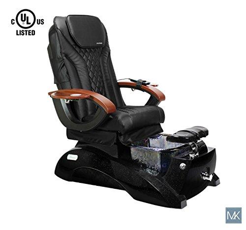 Galaxy Spa - Shiatsulogic Pedicure Spa FLORENCE GALAXY BLACK Black Pedicure Chair w/Discharge Pump