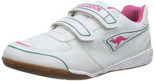 KangaROOS Loa Bang - Zapatillas, Niñas Blanco (magenta/white/dk smaragd 608)