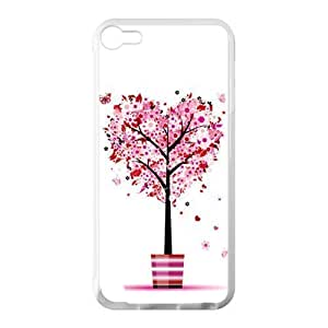 Hoomin Sweet Pink Love Tree Heart Ipod Touch 5 Cell Phone Cases Cover Popular Gifts(Laster Technology)