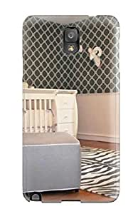 New Arrival Case Specially Design For Galaxy Note 3 (baby Nursery With Zebra Rug White Crib 038 Blue Chair)
