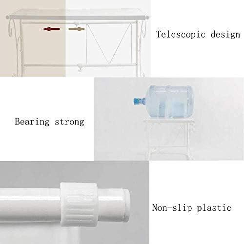 RXL Stabile Cucina Mensola Forno a microonde Stand Sundries Rack di stoccaggio in Acciaio al Carbonio telescopica Design Bianco Stand Durevole