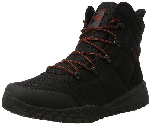 Omni Black Leather - Columbia Men's Fairbanks Omni-Heat Hiking Shoe, Black, Rusty, 7 D US