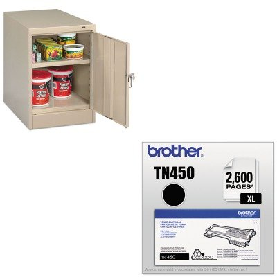 KITBRTTN450TNN1824PY - Value Kit - Tennsco 30amp;quot; High Single Door Cabinet (TNN1824PY) and Brother TN450 TN-450 High-Yield Toner (BRTTN450)