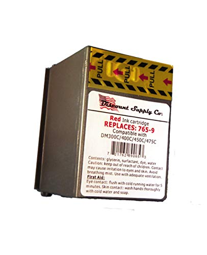 Pitney Bowes 765-9 Compatible Red Ink Cartridge for DM300c, DM400c, DM450c Postage Meters