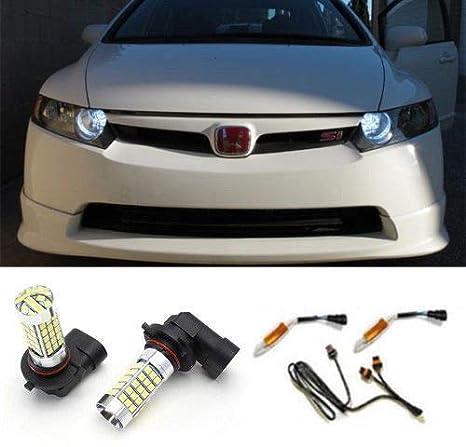 iJDMTOY Error Free 69-SMD 9005 LED Daytime Running Light Kit For Acura TSX  TL RL RDX MDX Honda Accord Civic Pilot, etc