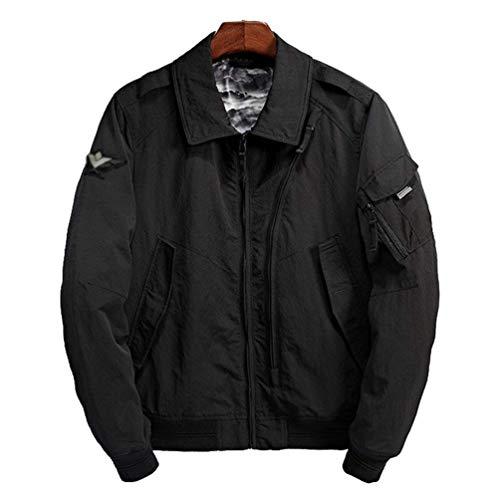 Bomber large Manteau Oudan Ma1 Harrington Blouson Vintage coloré Taille Jacket Noir Bombardier Xx 76FOHq