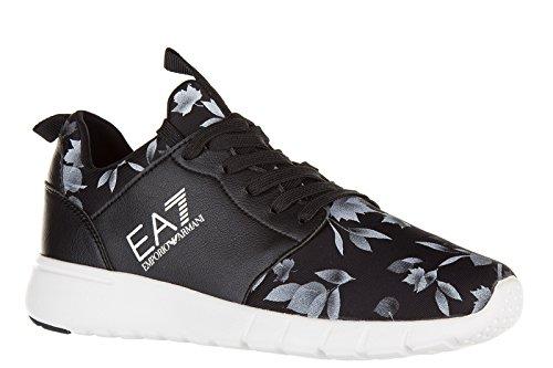 Emporio Armani EA7 scarpe sneakers donna nuove originale racer nero