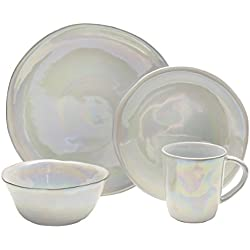 Mikasa Coronado 16-Piece Dinnerware Set, Service for 4, Pearl