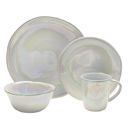 Mikasa Coronado 16-Piece Dinnerware Set, Service for 4, Pearl