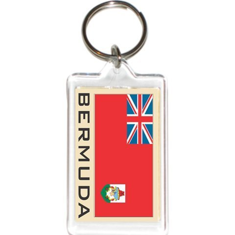 Acrylic KeyChains KeyRings Holders - Americas Grp 1 (3-Pack, Country: Bermuda)