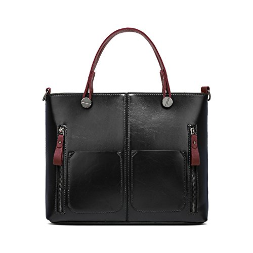 Handle Shoulder Bag Handbags Messenger Top Classy Tote Black Bag Satchel Women JUMENG Tw16Ffnw