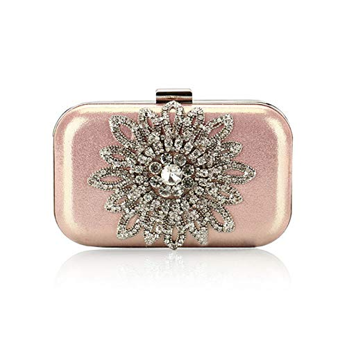 Evening pink Purse For Wallets Banquet And KLLXEB Party Fashion Clutch Handbag Bags Bridal Bag Sunflowers Women Bag q4n8dwva